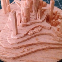 expressing forest by loosen balsa